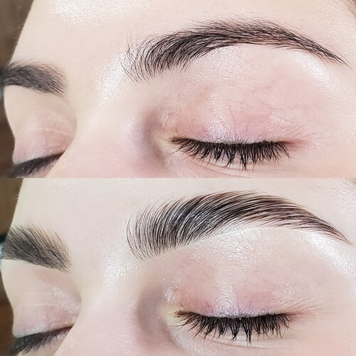 brow lamination toronto, brow lamination service mississauga, eyebrow lamination